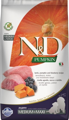 N&D Dog GF Pumpkin Lamb & Blueberry Puppy Medium & Maxi